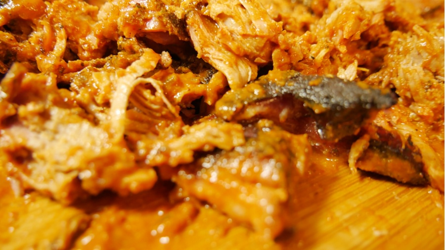 Saucy Pulled Pork close up