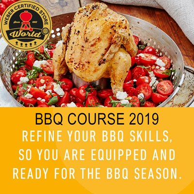 BBQ Course Certified by Weber Saturday 20th July 2019