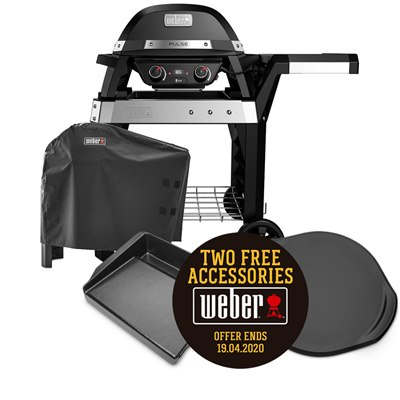 Weber Pulse 2000 Electric BBQ & Cover