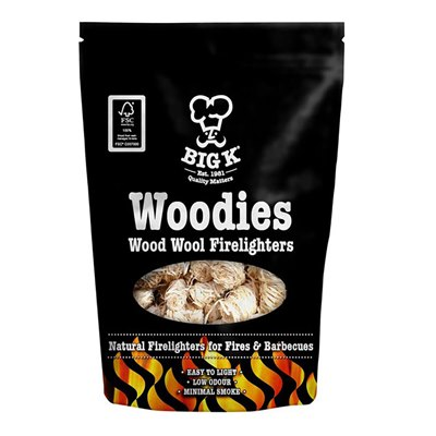 BigK - Woodies Natural Wood Wool Firelighters FSC®