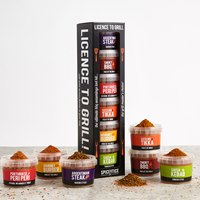 RUB-GRILLSET Spicentice BBQ Rub Gift Set, License to Grill